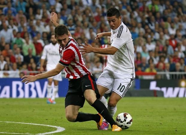 Aymeric Laporte Athletic Bilbao James Rodriguez Real Madrid