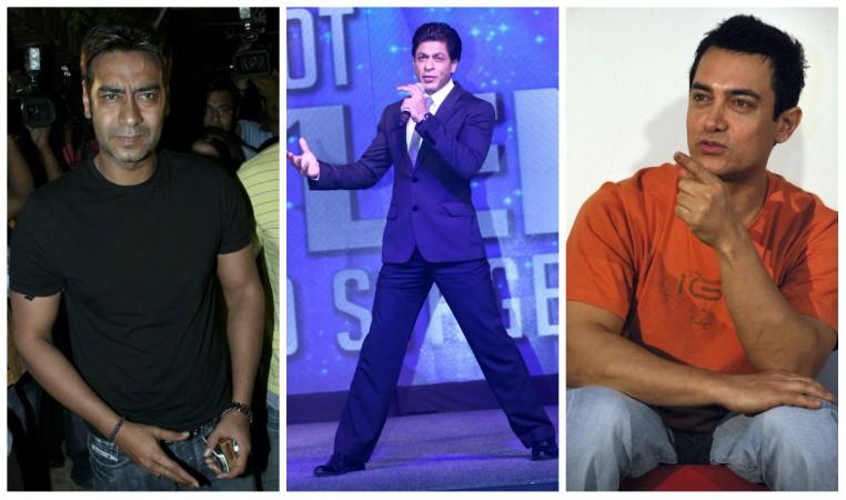 Ajay Devgn, Shah Rukh Khan, Aamir Khan