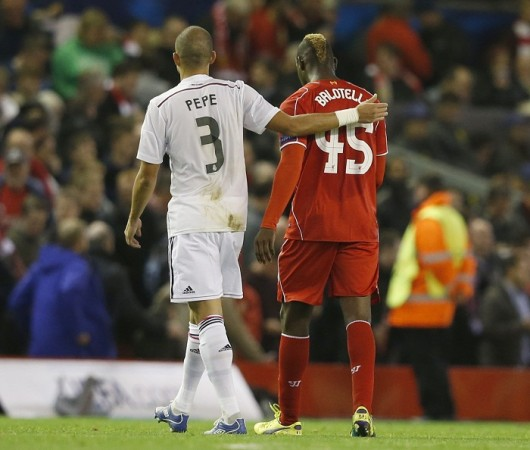 Pepe Mario Balotelli Liverpool Real Madrid