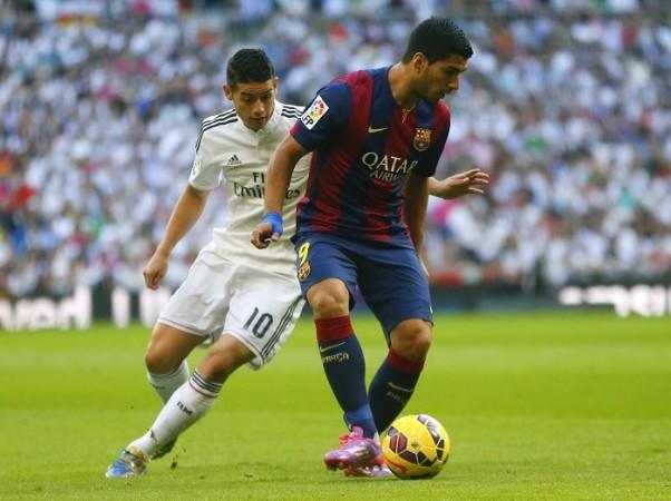 Luis Suarez Barcelona James Rodriguez Real Madrid