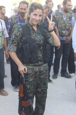 A Kurdish Female fighter,who gained online celebrity status for killing '100 ISIS fighters' reportedly may have been captured and beheaded by the Islamic State fighters in Kobani.