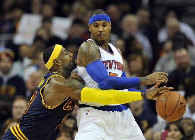 LeBron James Cleveland Cavaliers Carmelo Anthony New York Knicks