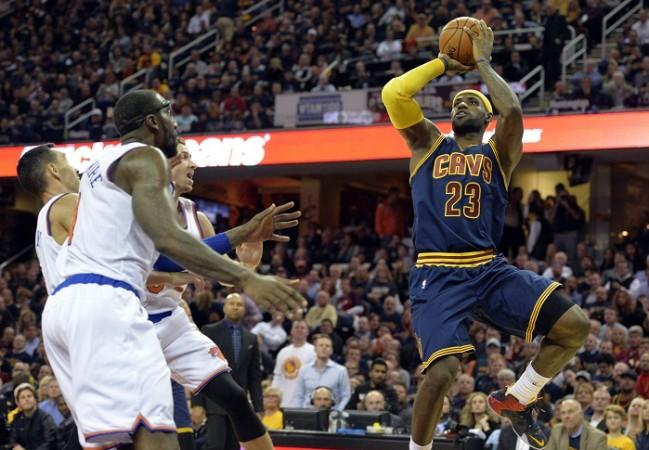 LeBron James Cleveland Cavaliers New York Knicks