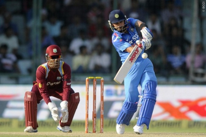 Virat Kohli India Denesh Ramdin West Indies