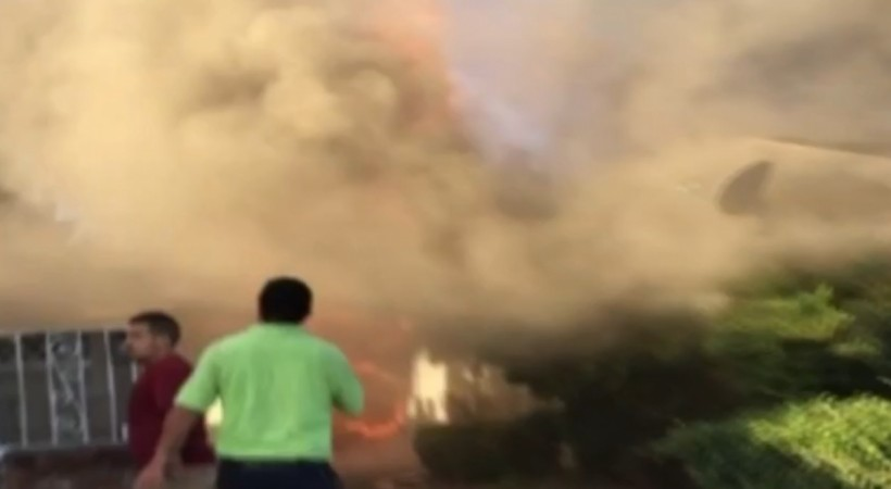 Jesus spotted in California fire