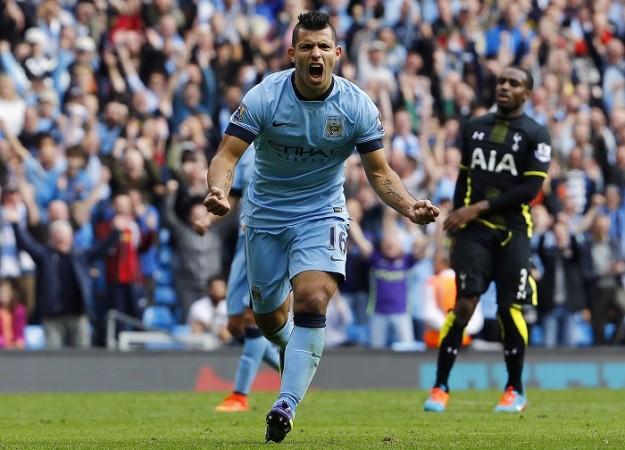 Sergio Aguero Manchester City Danny Rose Tottenham