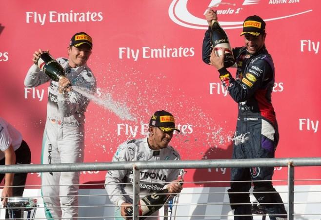 Rpsberg Hamilton Mercedes Ricciardo Red Bull US Grand Prix