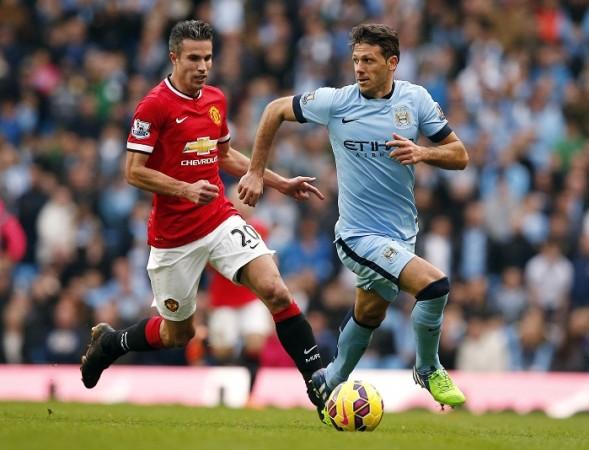 Robin Van Persie Manchester United Martin Demichelis Manchester City