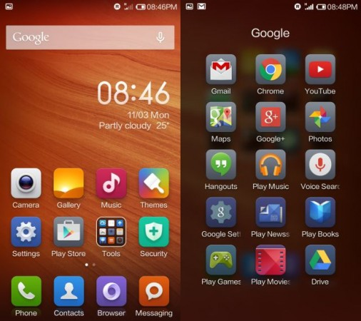 Xiaomi Redmi 1s Interface