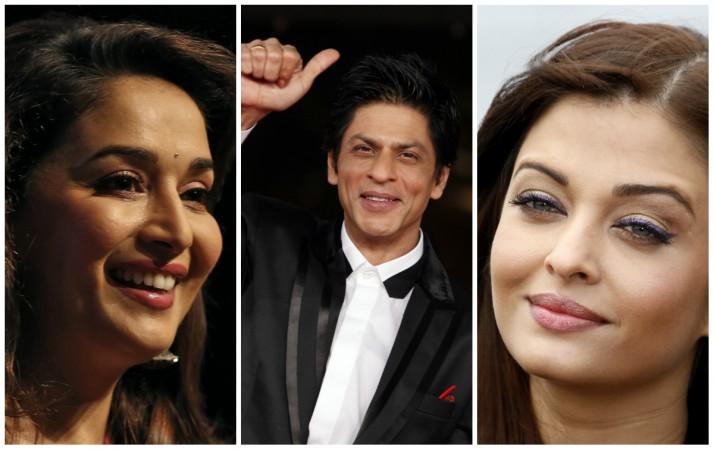 Madhuri Dixit, Shah Rukh Khan, Aishwarya Rai Bachchan