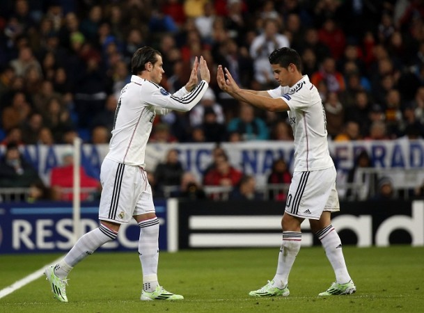 Gareth Bale James Rodriguez Real Madrid