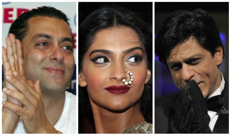 Salman Khan, Sonam Kapoor, Shah Rukh Khan