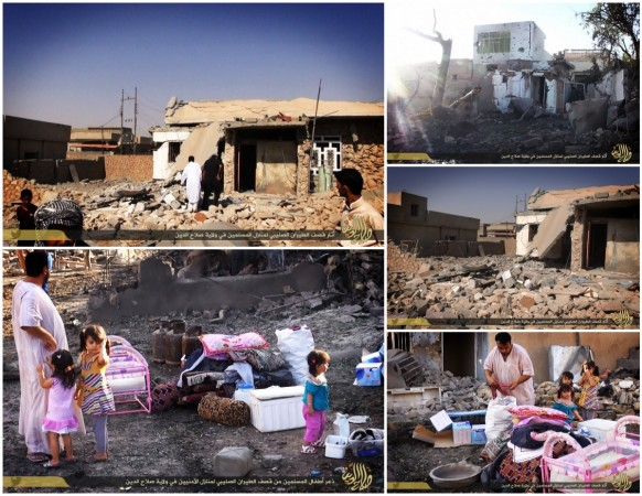 ISIS showing the destruction in ISIS-held areas of Salahuddin province following a U.S.lead coalition bombing.