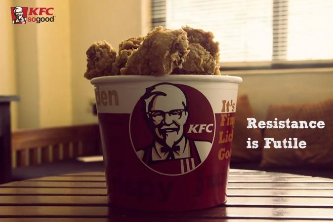 KFC chicken bucket