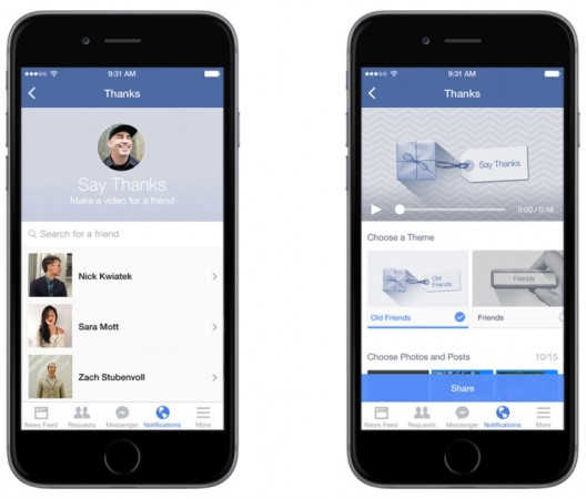 Facebook Introduces 'Say Thanks'- A Cool Way To Thank Your Buddies For Everything