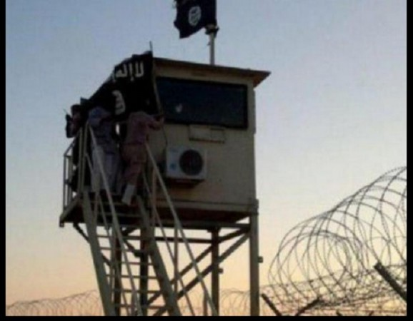 A Egyptian terror group affiliated with ISIS has put up the Islamic State's flag near Israel border.