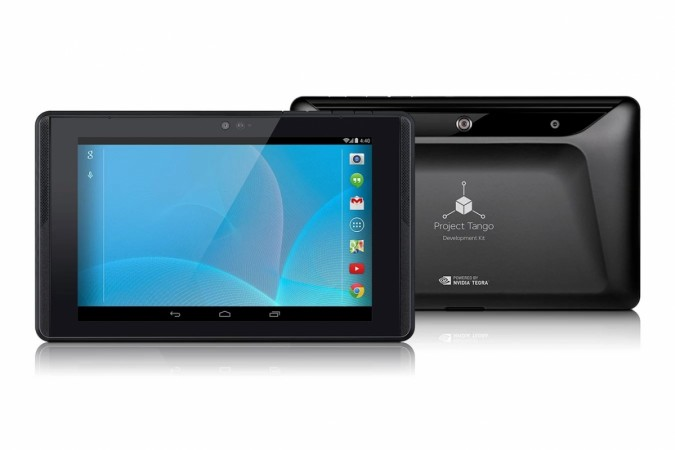 Google Project Tango tablet, now available on Play Store.