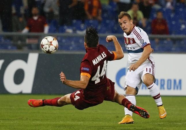 Kostas Manolas Roma Xherdan Shaqiri Bayern Munich