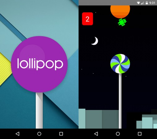 Android 5.0 Lollipop Easter egg