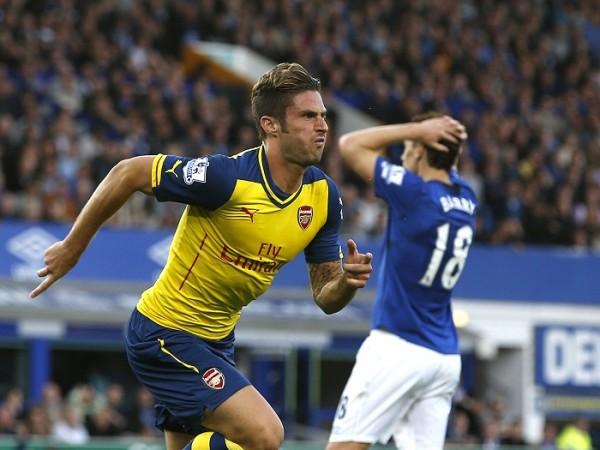 Olivier Giroud Arsenal Everton Gareth Barry