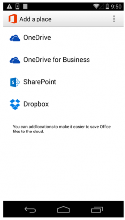 Microsoft Brings Dropbox Support To Office Mobile For Android