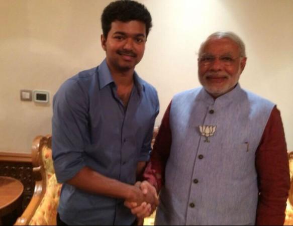 Vijay with Narendra Modi