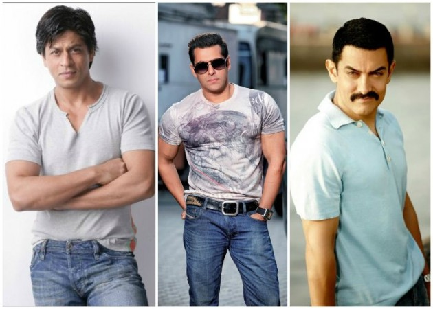 Shah Rukh Khan, Salman Khan and Aamir Khan