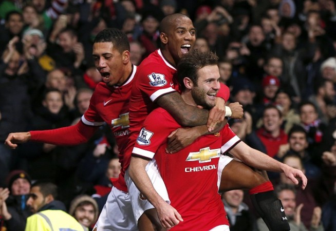 Chris Smalling Ashley Young Juan Mata Manchester United