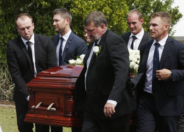 Phil Hughes Funeral Jason Greg Michael Clarke Aaron Finch