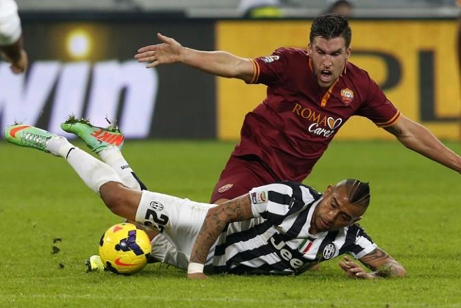 Kevin Strootman Roma Arturo Vidal Juventus