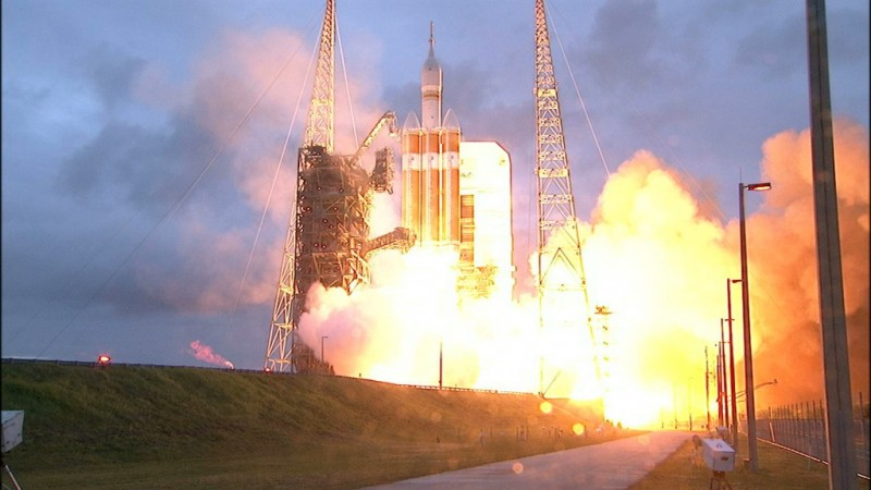 Orion takes off