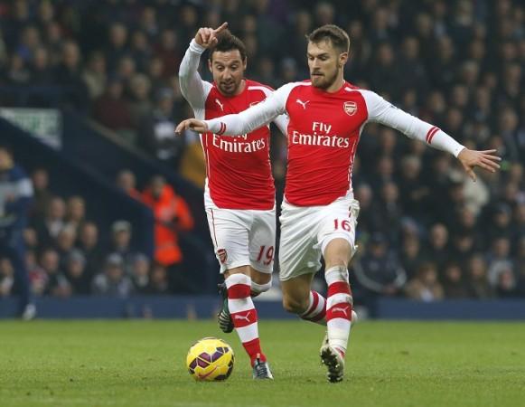 Aaron Ramsey Santi Cazorla Arsenal
