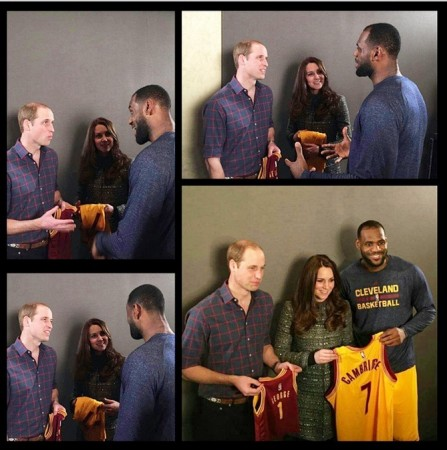 03d21621a Kate Middleton and Prince William Meet US Royal LeBron James on Last Day of  US trip