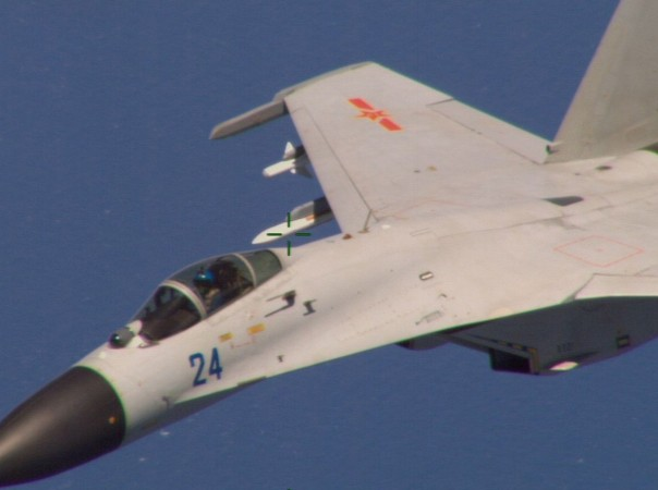 Five Chinese military aircraft are reported to have almost caused threats to the Guam base as they were observed flying menacingly near islands of Japan.