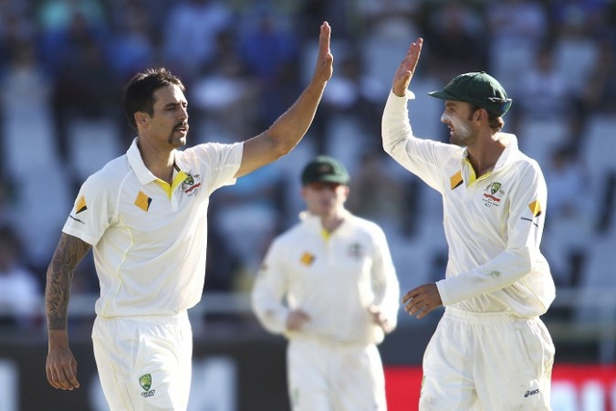 Mitchell Johnson Nathan Lyon