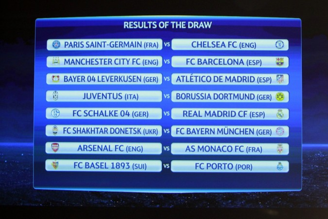 Champions League round of sixteen draw