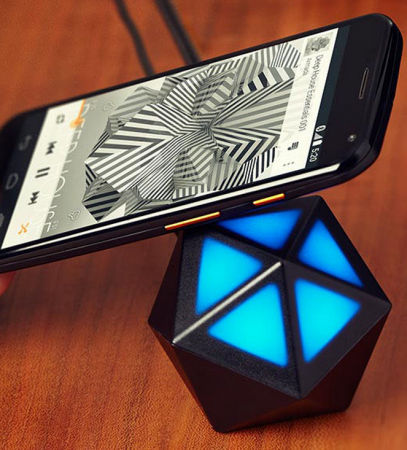 Moto X 2014 edition paired with a Moto Stream Bluetooth Speaker through NFC