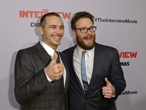 James Franco and Seth Rogen, stars of 'The Interview' at the Los Angeles premiere of the movie