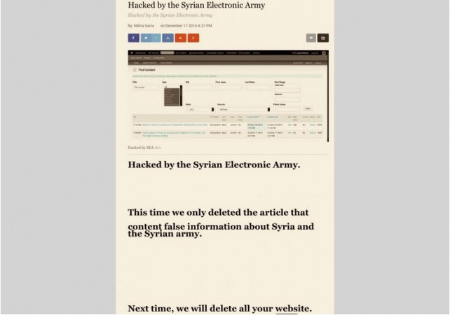 Syrian Electronic Army Hacks IBT