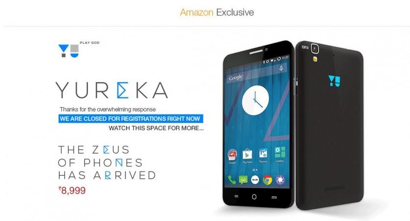 Micromax YU Yureka Pre-Registration Service Goes Live on Amazon India [UPDATE]; 5 Key Features to Know