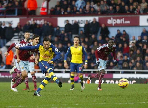Santi Cazorla Arsenal West Ham