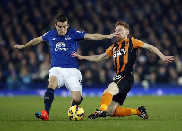 Seamus Coleman Everton Hull City Stephen Quinn