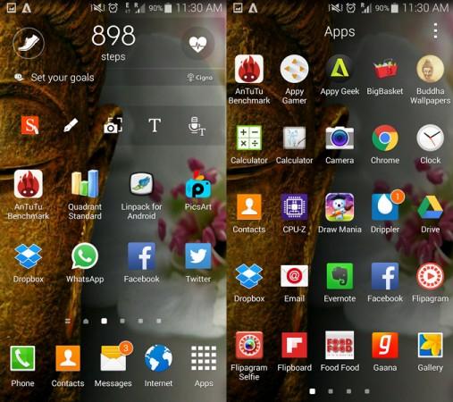 Samsung Galaxy Note 4 Interface
