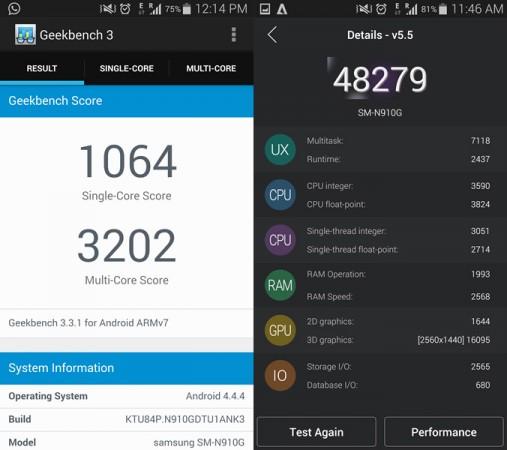 Samsung Galaxy Note 4 Benchmark
