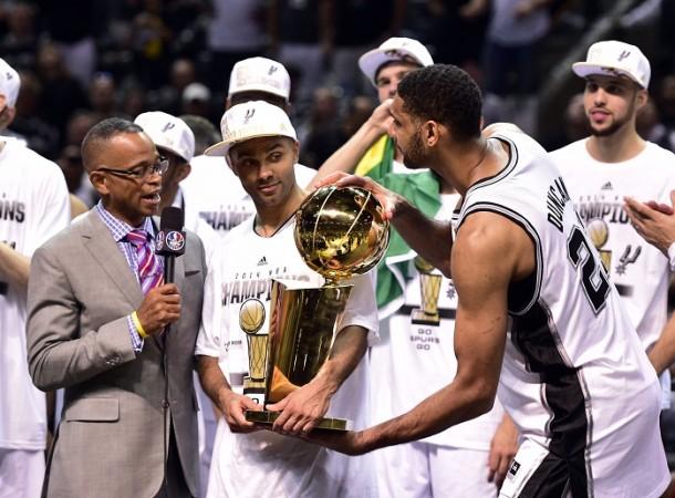 Stuart Scott San Antonio Spurs Tony Parker Tim Duncan