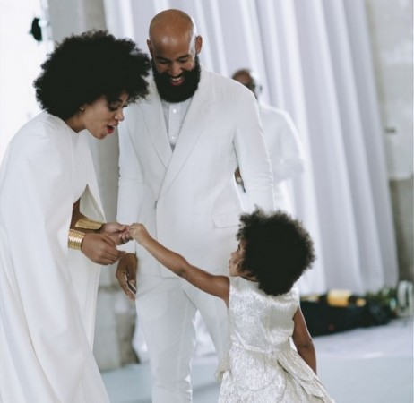 Adorable Blue Ivy at aunt Solange's wedding