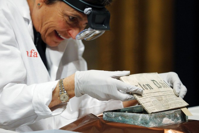 The capsule dating back to 1795 contained newspaper and coins of various denominations dating as far as 1655.