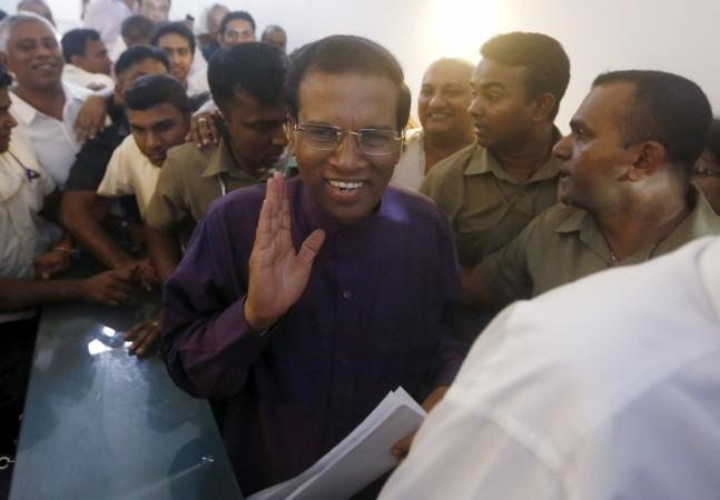 Sri Lanka president Mithripala Sirisena