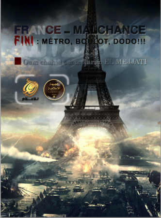 An image shared by ISIS on war that the group plans to bring to France.