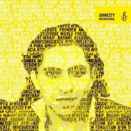 Raif Badawi campaign image by Amnesty International
